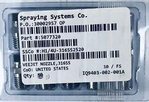 Spraying Systems Co Veejet Nozzle 316ss Box Of 10
