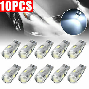 10pcs Canbus Error Free 5630 Projector Lens T10 6smd Led Bulbs W5w 194 168 White