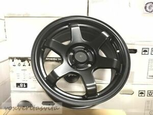15 Grid Te37 Style Wheels Rims Satin Black Fits Honda Civic Insight Crx