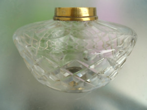A Very Good Quality Large Cut Glass Victorian Duplex Oil Lamp Font