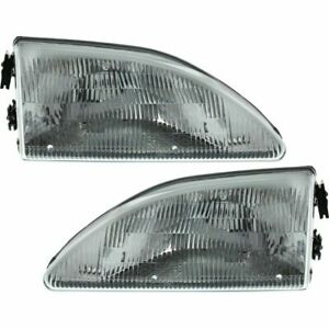 Fit For 1994 1995 1996 1997 1998 Fd Mustang Headlights Right Left Pair