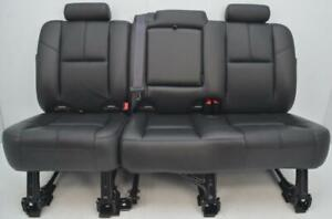 2007 2008 2009 2010 2011 2012 2013 Chevrolet Avalanche Rear Black Leather Seats
