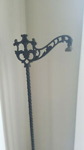 Vintage Cast Iron Floor Bridge Arm Lamp