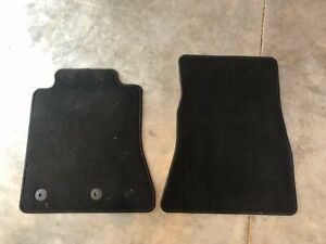 2015 2019 Ford Mustang Front Factory Floor Mats Set Black Carpet Oem New