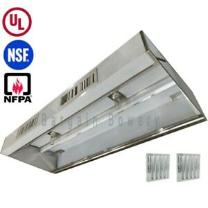 Ul 4 Ft Restaurant Commercial Kitchen Exhaust Hood Make Up Air Supply Air