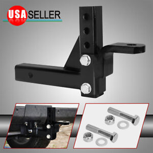Adjustable Drop Ball Mount Heavy Duty Trailer Hitch Receiver Tow Truck Rv