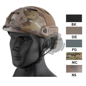 Emerson Tactical Airsoft PJ Type Fast Helmet Lightweight w NVG Side Rail Shroud
