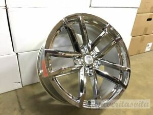 20x10 11 Zl1 Mach Style 41 Wheels Rims Chrome Finish Fits Chevy Camaro 1ls 2ls