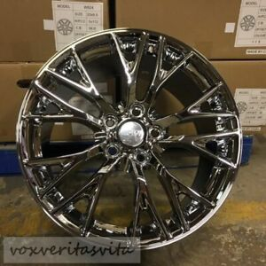 C7 Z06 Style Chrome Wheels Rims Fits 2005 2013 C6 Corvette 18x8 5 19x10