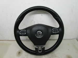 Vw Cc B6 9 14 Black Leather Steering Wheel Assembly Oem 3c8419091be