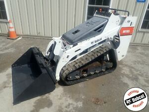 2016 Bobcat Mt85 Mini Track Loader Aux Hydraulics New Tracks Bucket 24 8 Hp