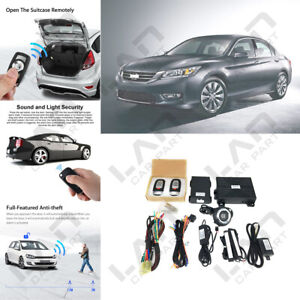 Keyless Entry Engine Start Alarm System Push Button Remote Starter For Honda