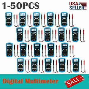 Lot 1 50 Pcs Digital Multimeter Ac Dc Voltmeter Ammeter Ohmmeter Lcd Display