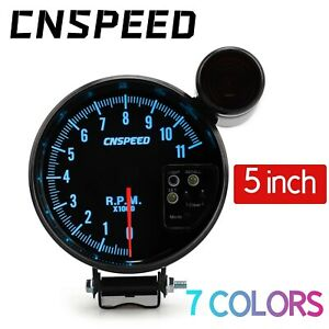 5 Inch Pointer Tachometer Gauge 0 11000 Rpm Meter With Shift Light 7 Color Led
