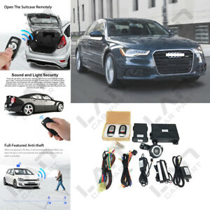 Keyless Entry Engine Start Alarm System Push Button Remote Starter For Car W
