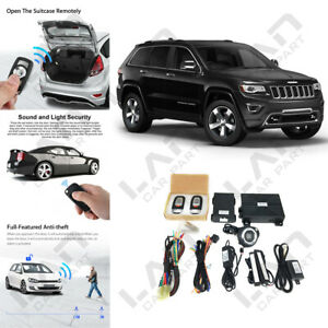 Keyless Entry Engine Start Alarm System Push Button Remote Starter For Jeep