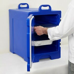 Blue Polyethylene Nsf Listed Front Loading Insulated Catering Food Pan Carrier