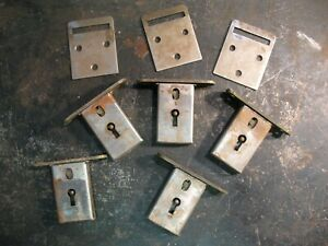 Vintage Antique Cabinet Furniture Skeleton Key Lock Brass Parts