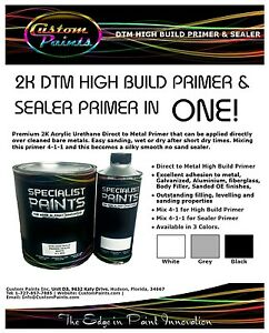 Quart 2k Dtm High Build Primer Black Inc Act 2k Reducer For Sealer 4 1 1