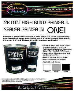Quart Of 2k Dtm High Build Primer Black Inc Activator 4 1 Automotive Easy Sand