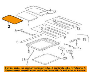 Cadillac Gm Oem 08 14 Cts Sunroof Front Seal 23142058