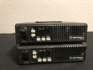 lot Of 2 Motorola D44mja77a3ck Maxtrac Mobile Two Way Radio Motorola Uhf 16pin