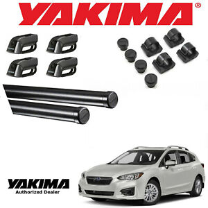 Yakima Complete 66 Cross Bar Kit For 2002 2019 Subaru Impreza 5dr W Side Rails