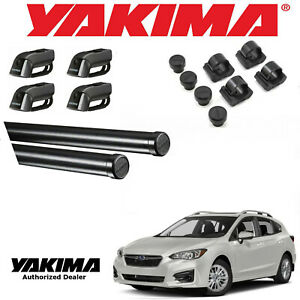 Yakima Complete 78 Cross Bar Kit For 2002 2019 Subaru Impreza 5dr W Side Rails