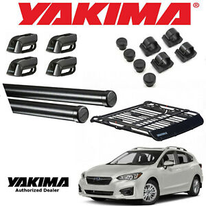 Yakima 58 Crossbar W Medium Offgrid For 02 19 Subaru Impreza 5dr W Side Rails