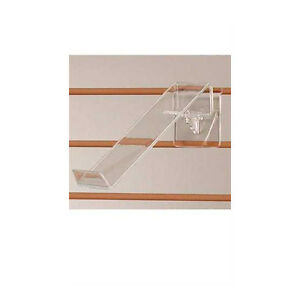 Acrylic Clear Shoe Display Toe Hold Swivel 2 75 W X 9 L Inches