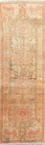Antique Traditional Oriental Wool Runner Rug Geometric Hand Knotted 2 X 7 Carpet