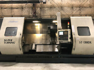 08 Johnford St 130dx Cnc Lathe Fanuc 130 Centers 48 Swing 2 Steadyrests