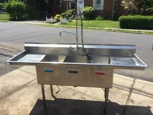 3 Bay Stainless Steel Sink