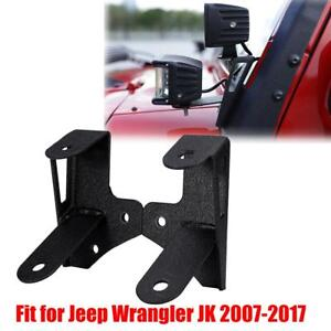 A pillar Double Mount Bracket For 2007 18 Jeep Wrangler Jk Fit 4 18w Led Light