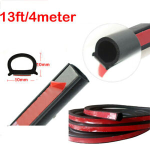 4m 160 D Shape Rubber Weather Seal Hollow Car Door Strip Weatherstrip Universal