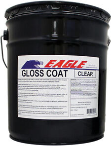 Acrylic Concrete Sealer Film High Gloss Coat Clear Wet Look Solvent based 5 Gal
