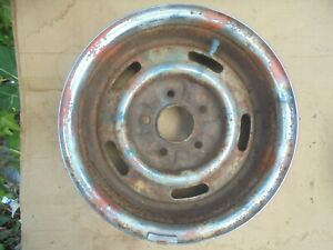 1960s 1970s Chevy Corvette Nova Camaro Chevelle 14 X 6 Rally Wheel Jj Code
