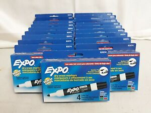 19 Packs 4 Colors In Each Expo Dry Erase Markers Low Odor Ink Bullet Tip