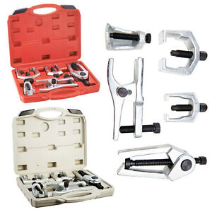 6pcs Pitman Arm Puller Ball Joint Separator Tie Rod Front End Tool Kit W case