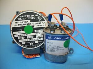 Superior Electric 72rpm 120v 0 33a Slo syn Motor Ss221 Ct215384 W capacitor