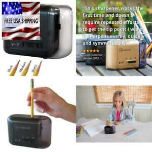 Officegoods Electric Battery Operated Pencil Sharpener Compact Reliable Fa