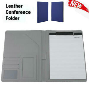 A4 Leather Folder Document Organiser Business Portfolio Case Conference File Wy