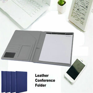 Lot A4 Executive Conference Folder Pu Portfolio Leather Look Organiser Wy
