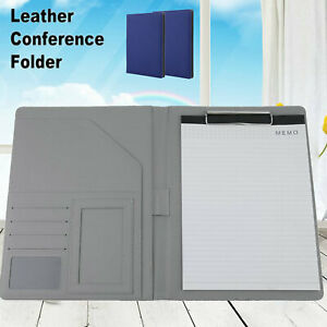 Lot New A4 Leather Conference Folder Portfolio Ring Binder Organiser Wy
