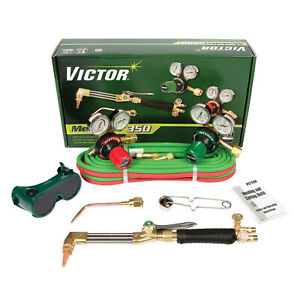 0384 2691 Victor Medalist 350 Torch Kit Set With Regulators cga 300