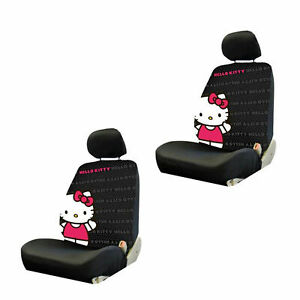 New Hello Kitty Core Low Back Seat Covers Universal Fit Pair