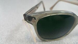 A o Green Weld safety Glasses Buddy Holly Style n o s Clear Side Shields