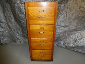Antique Oak 4 Drawer File Cabinet 52 X 27 X 21 Local Pick Up Only
