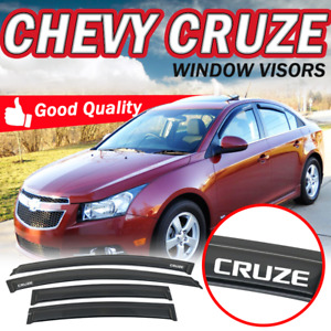 For 11 15 Chevy Cruze Slim 4pcs Window Visor Deflector Slim Smoke Acrylic Guards