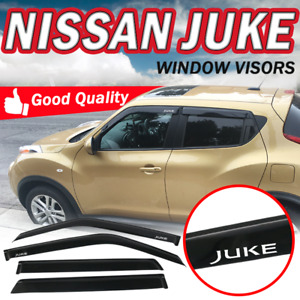 Fit 11 16 Nissan Juke Smoke Tinted Window Visors Slim Vent Shade Rain Deflector